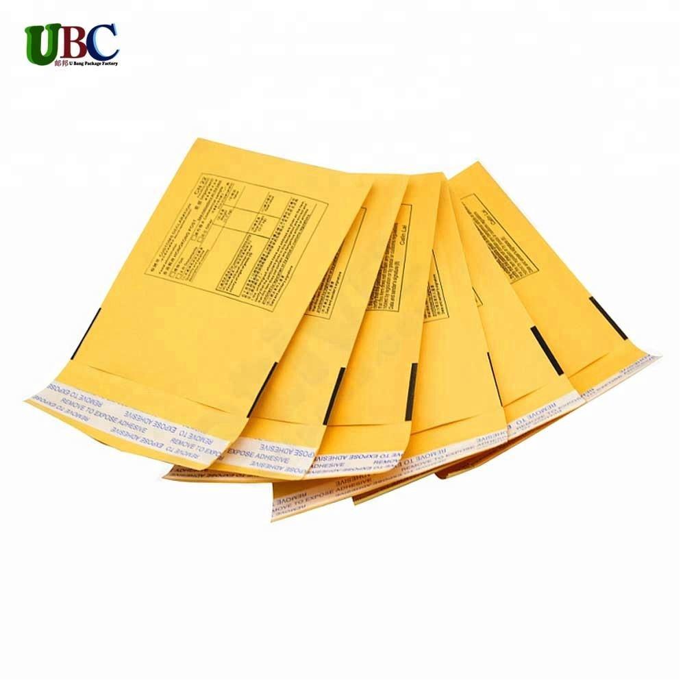 Quilling papel Kraft bolha envelopes de cor