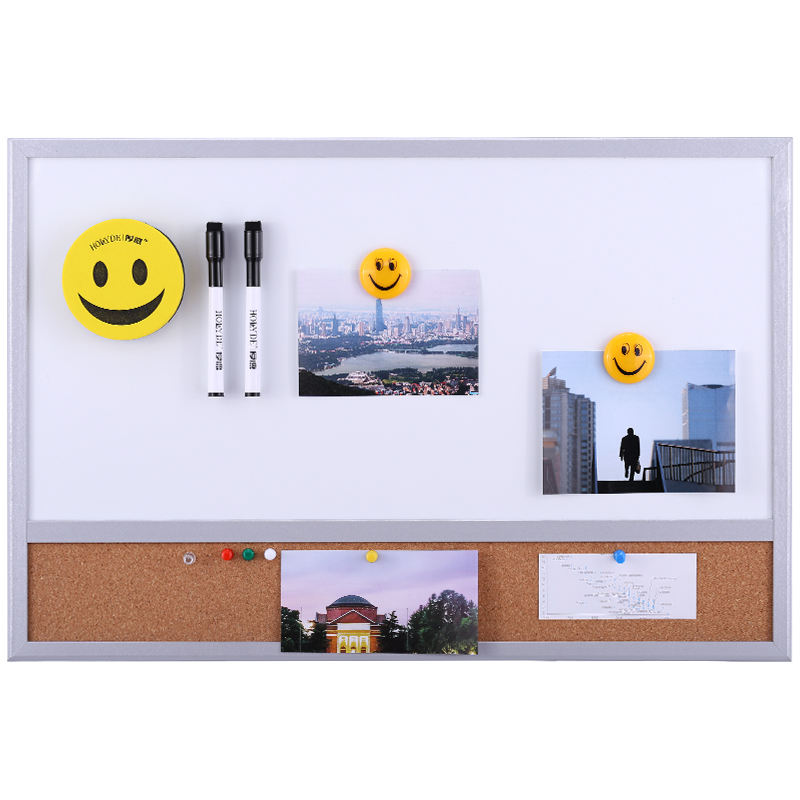 40*60 Combination Bulletin Whiteboard Cork Board in Wooden Frame for Memo