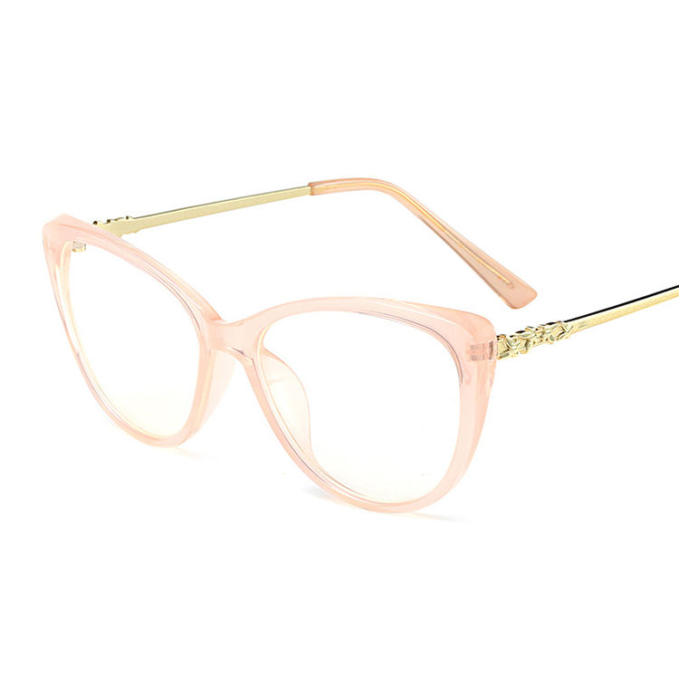 Low price fancy pink cat eye optical glasses frame