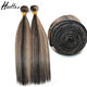 Cuticle aligned virgin remy Chinese unprocessed piano color human piano hair weave