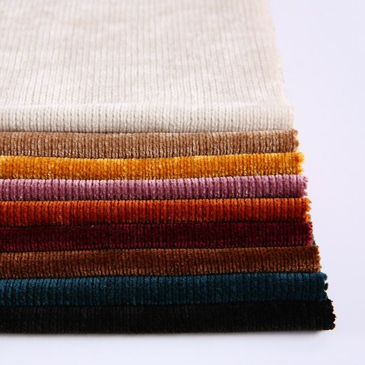 China Factory And Trade Company Heavy 100% polyester chenille fabric For Apparel
