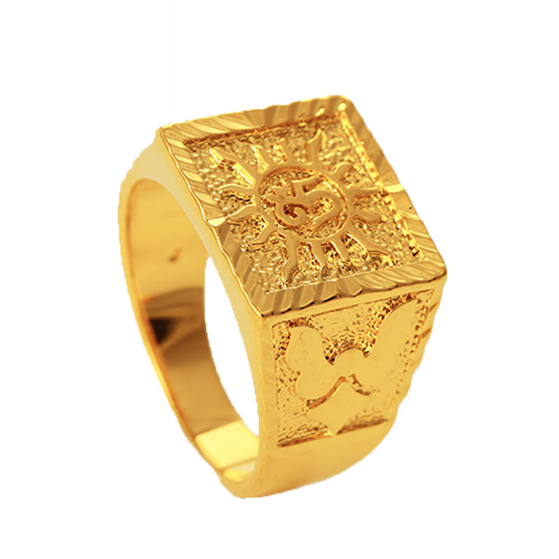 xuping fine jewellery fashion jewelry, dubai 24K gold plating copper alloy big ring, wedding rings for man