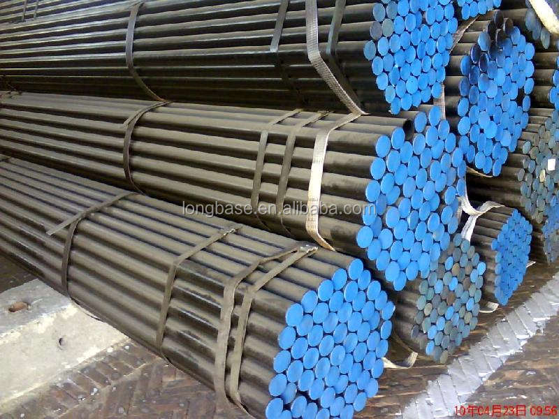 Best selling schedule 40 carbon steel pipe low can supply balck painting as mild steel seamless pipe