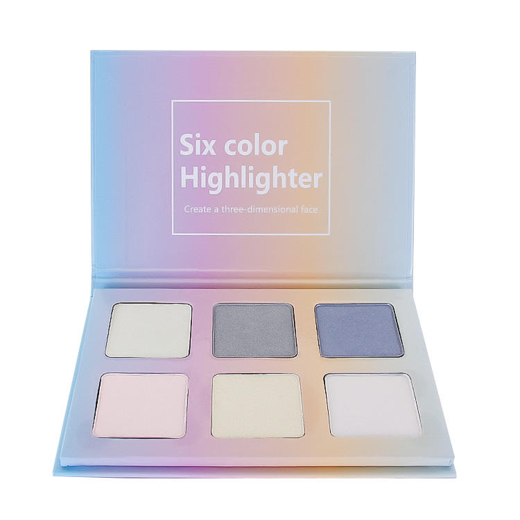 Private Logo Highlighter Makeup Make Your Own Brand 6 colors Illuminator