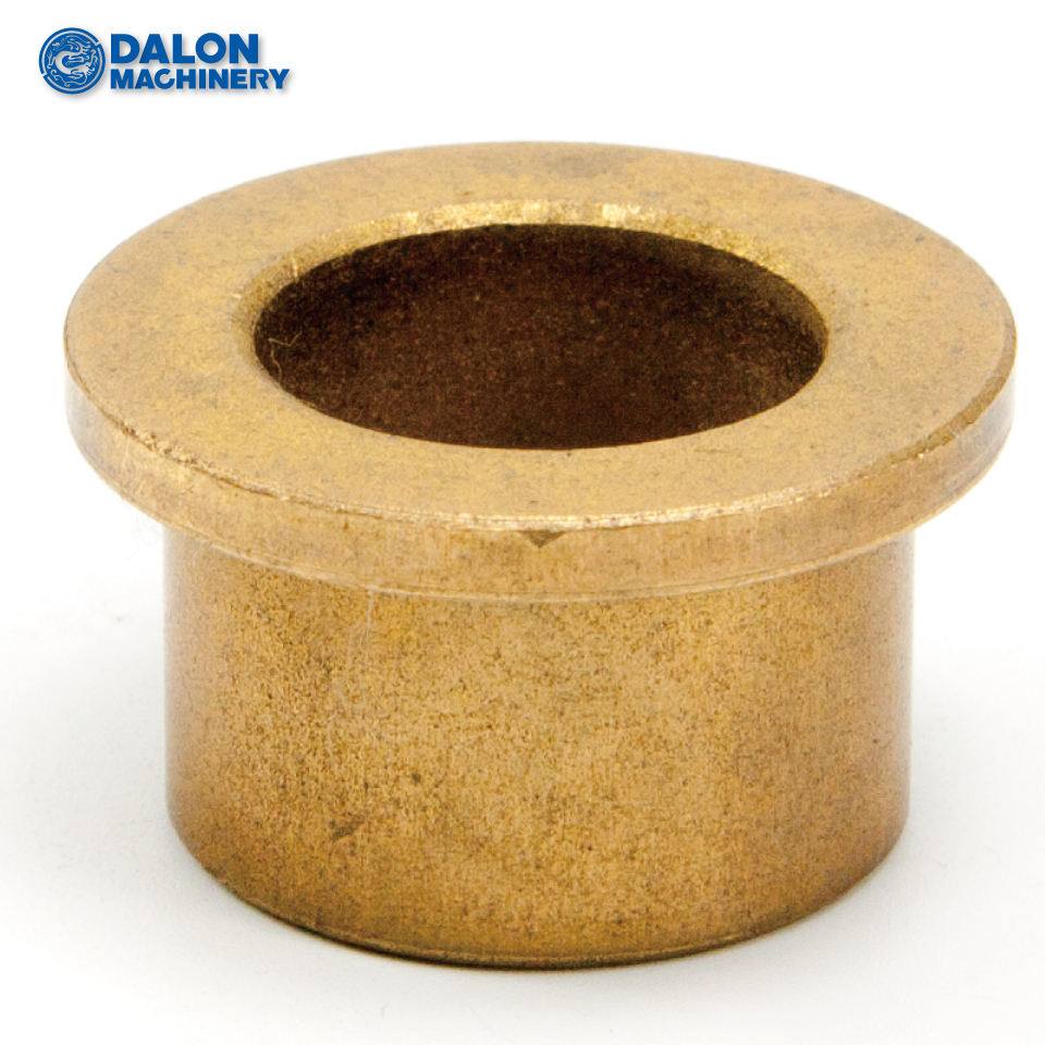 powder metallurgy oilite graphite impregnated sintered CuSn6Zn6Pb3 flanged bronze bushing18X24X30X3X12