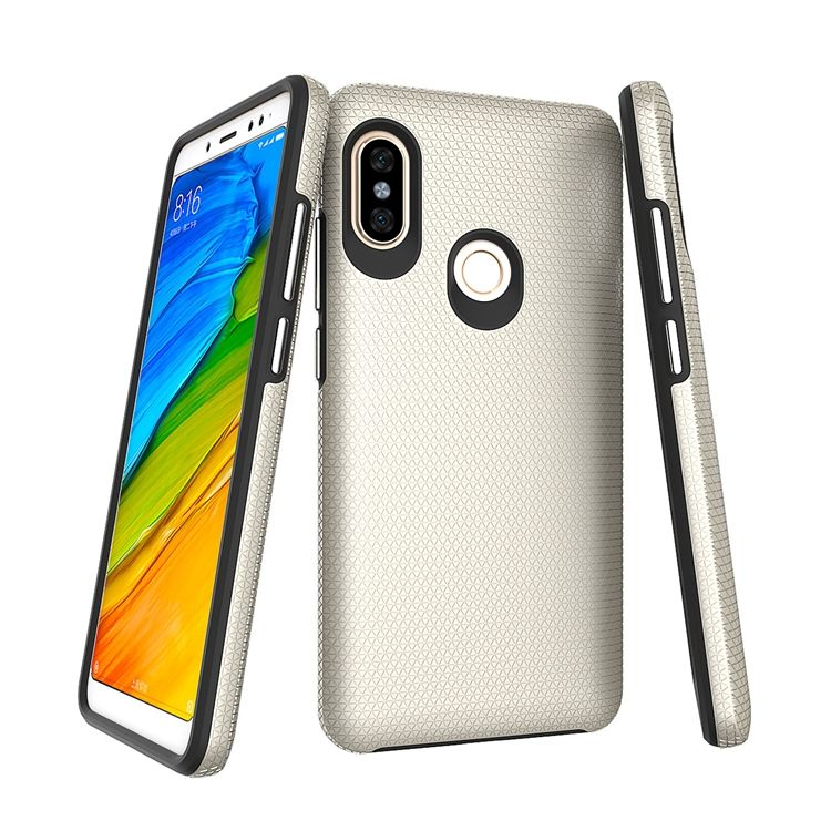 hot popular golden fitted case for xiaomi redmi note 5 pro armor
