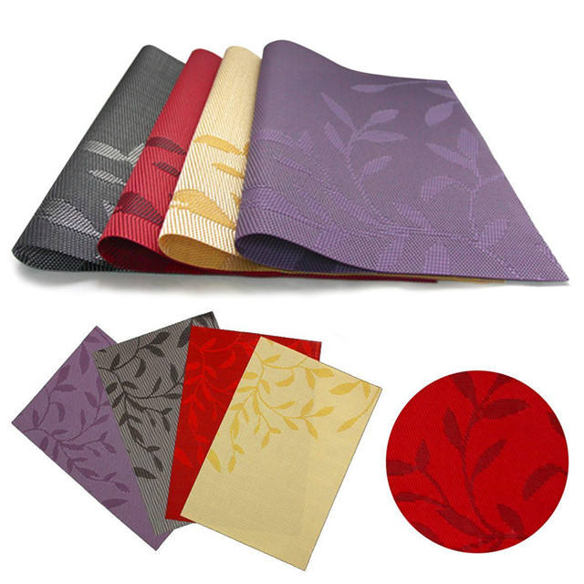 Dining Table Place Mats Set Of 4 Washable PVC Heat Resistant