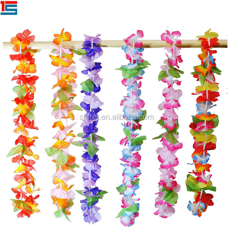Good quality hawaii flower leis ,Flower Garland,plastic flower garland
