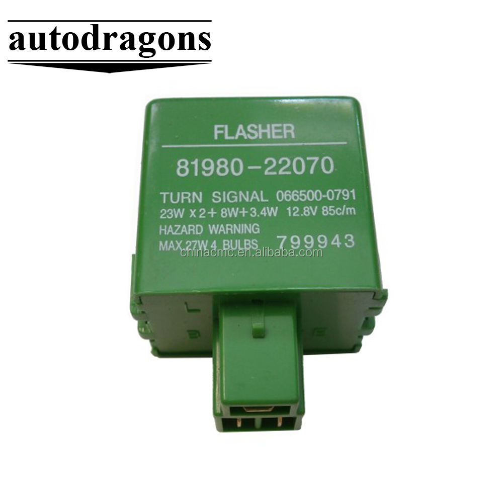 Electrónica Flasher 81980-22070 12 V auto 3pin led flasher relay para LED de señal de vuelta de luz lámpara de bulbo