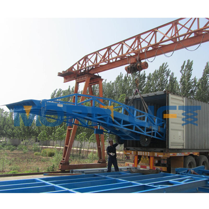 10t mobile container forklift loading yard ramps for sale