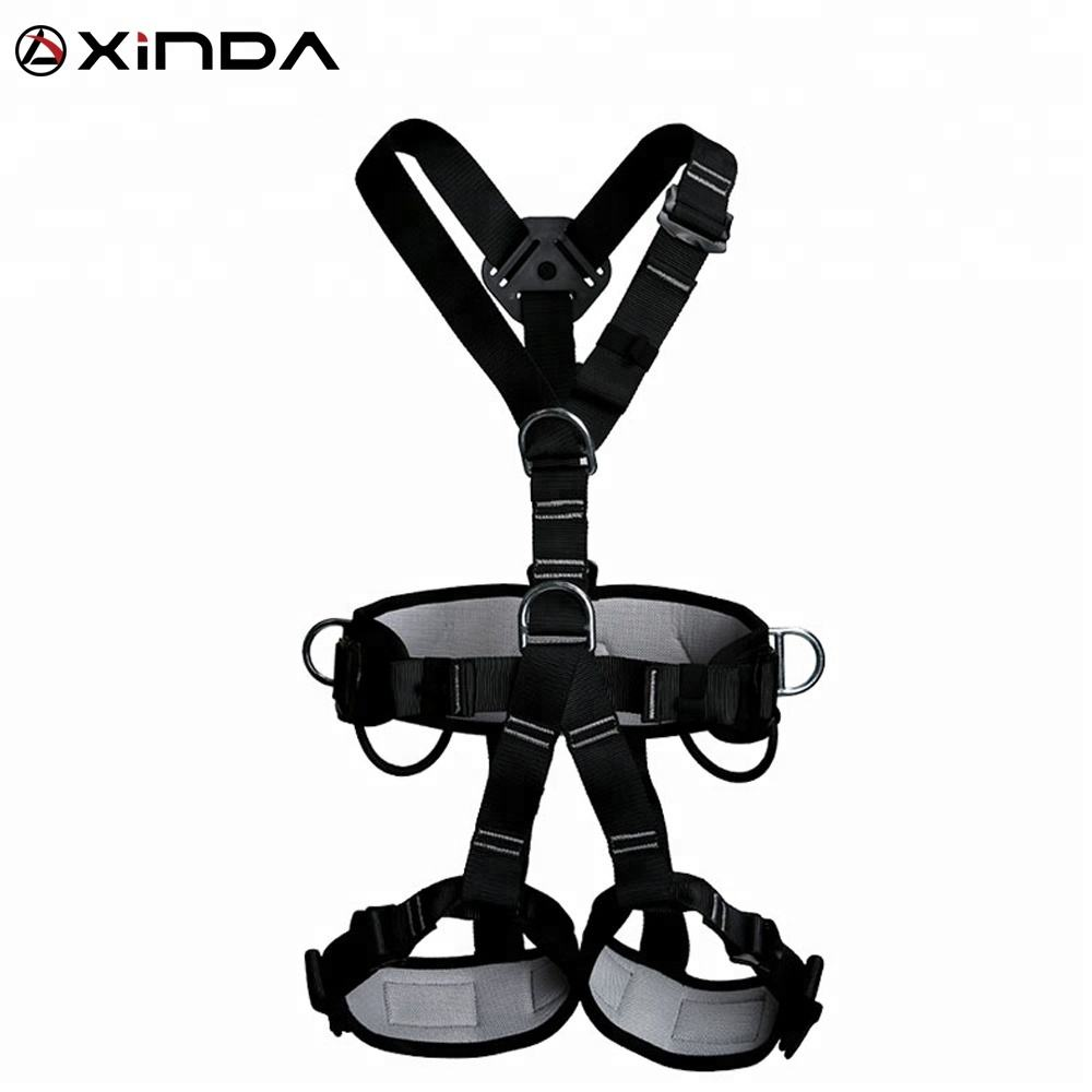 XINDA black full body harness for construction working at height window cleaning