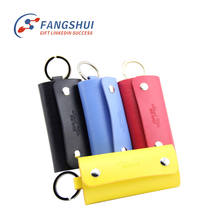 High quality pocket pu keychain leather case