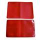 three pockets red PVC plastic cardholder for business card tickets
