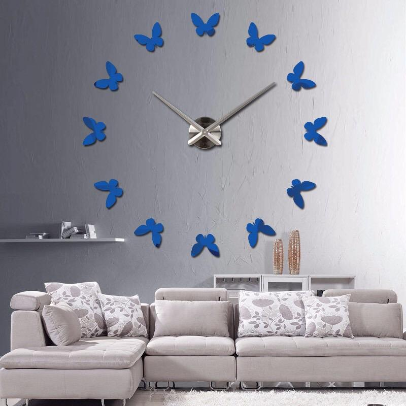 Butterfly DIY Large 3D Acrylic Sticker For Home Office Art Mirror Wall Clock
