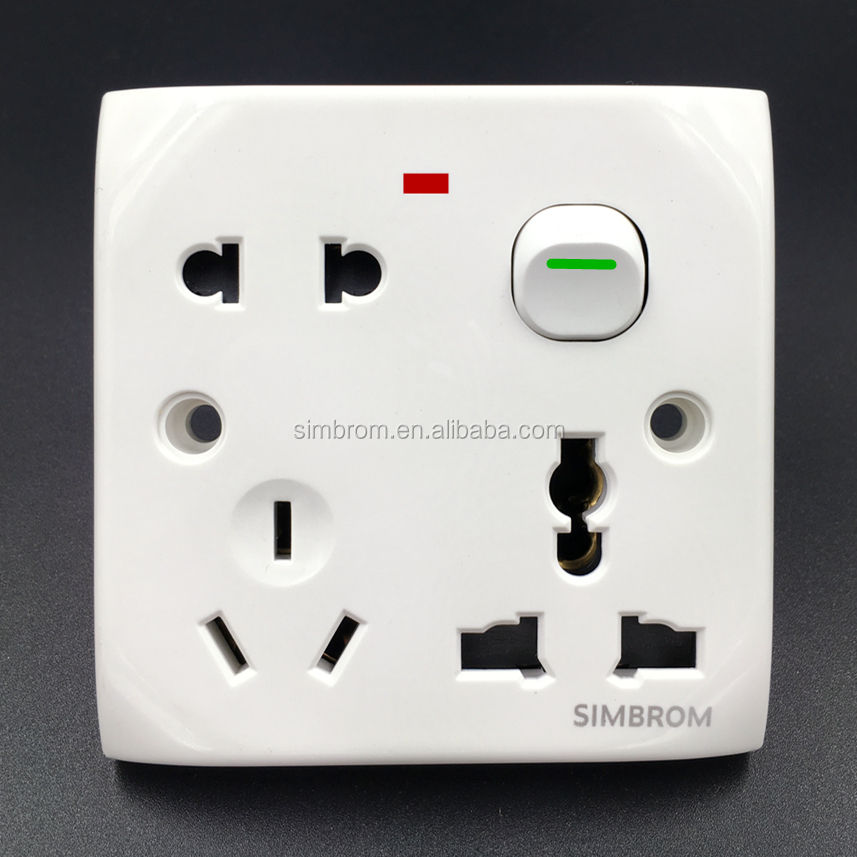 Dhaka Chittagong popular good sell 13A 1 gang switch 3 pin socket