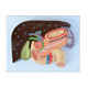 Plastic teaching anatomy of visceral pancreas, spleen, liver and gallbladder model