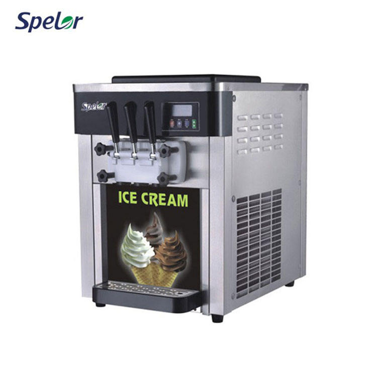 Bql-818T CE Certification Commercial Soft Ice-Cream Softy Ice Cream Making Machine