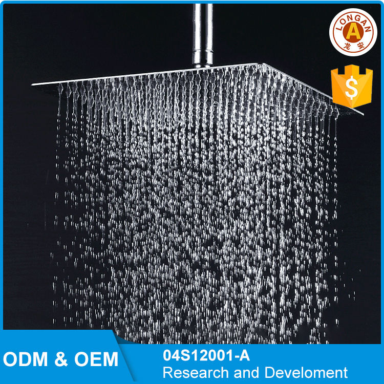 Hot sale 12 inch Square 304 Stainless Steel Chrome Rain Shower Head