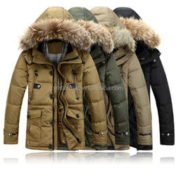 mens high quality winter coats with fur hood for men