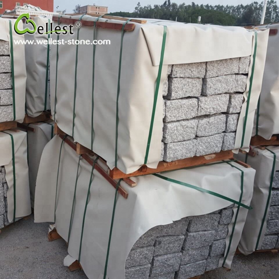 cheapest G603 grey granite kerbstone for patio stone tiles