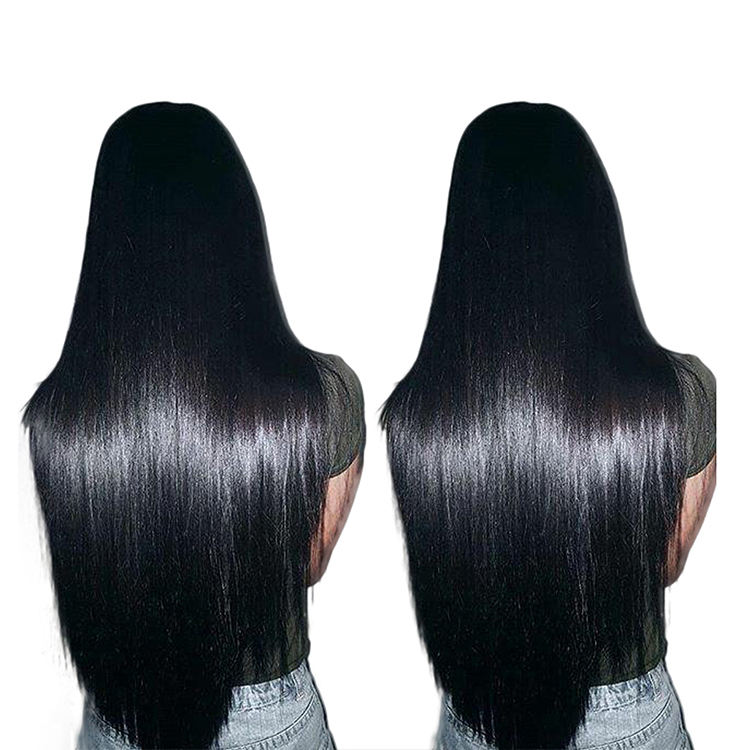 Wholesale cuticle aligned brazilian human silky straight hair,virgin remy double drawn hair extensions bundles