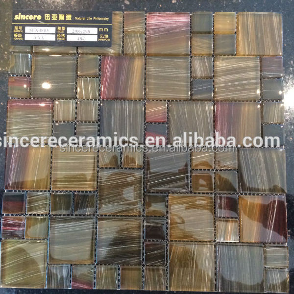 Manufacture of decorative glass mix stone mosaic tile