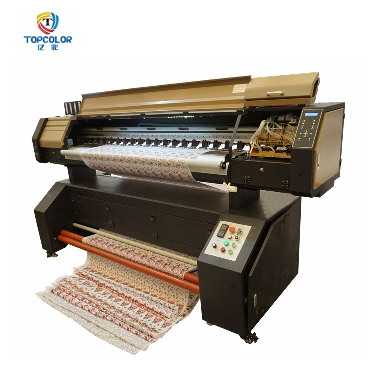 6 feet flex Industrial textiles factory Topcolor 1880MQ printing machine cost cloth banner printer