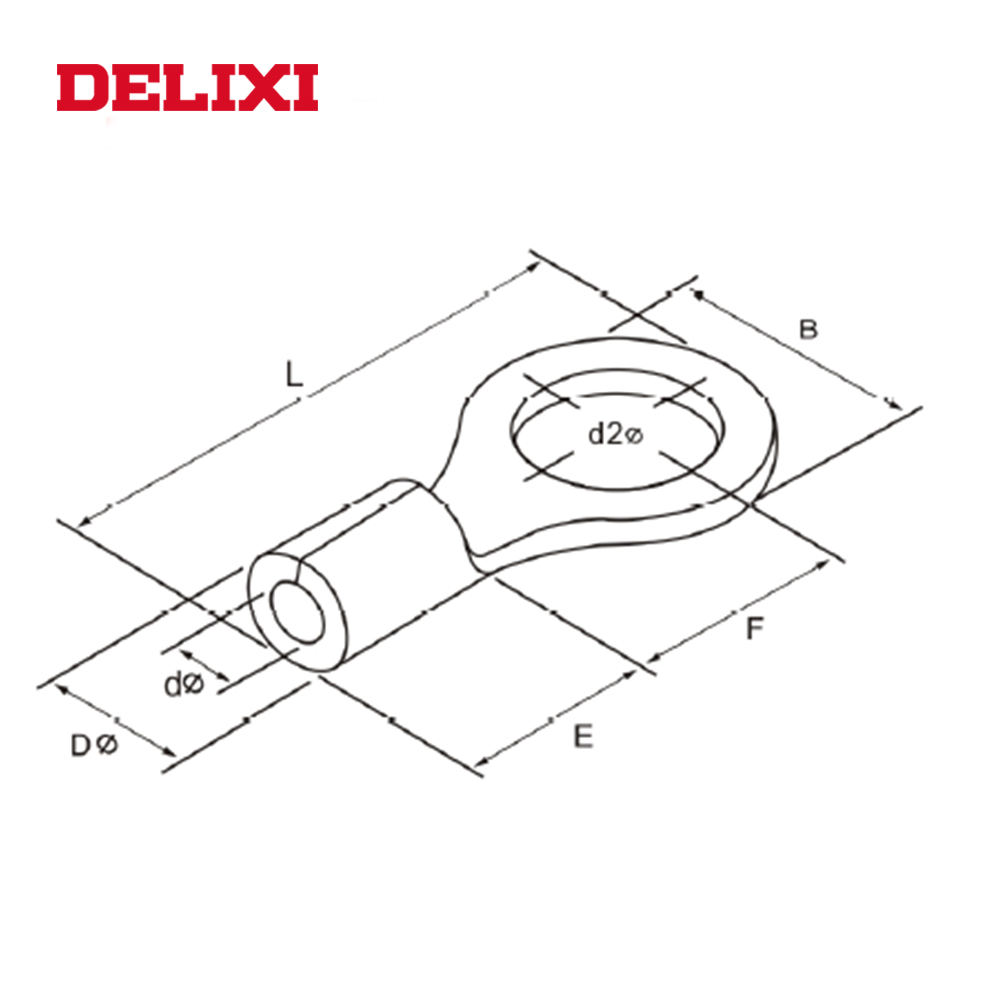 DELIXI OT UT COLD-PRESSED TO CIRCULAR NAKED China Suppliers Prices Of Copper Cable Lug Pin Type