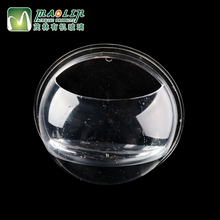 New design wall-hanging style decorative mini clear acrylic round fish tank