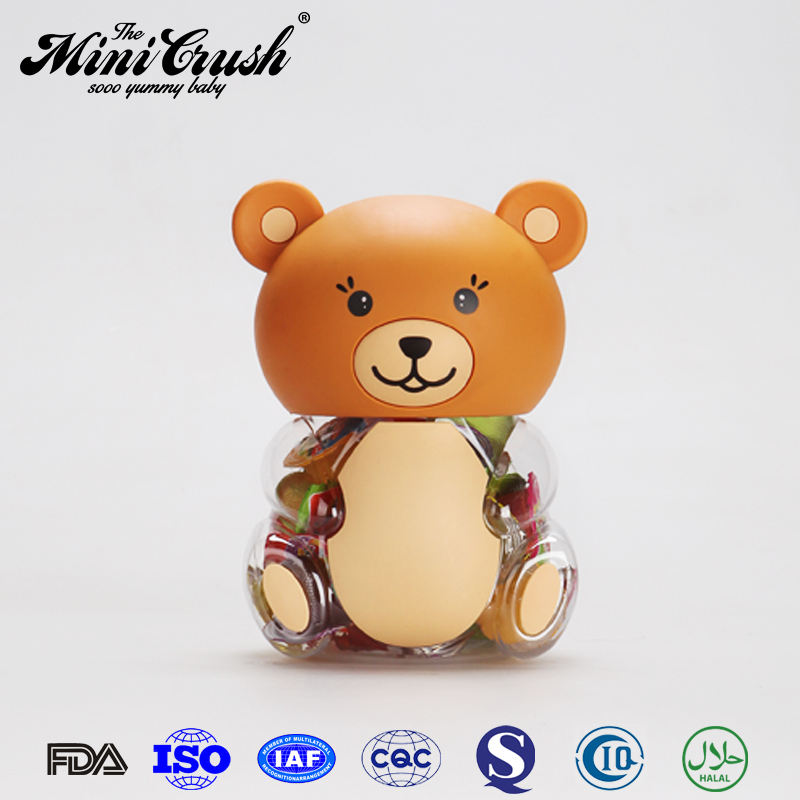 Bear container assorted coconut piggy bank bear jar jelly