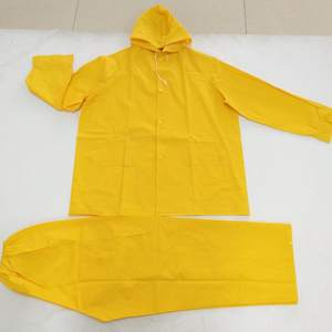 cheap raincoat industrial PVC/Polyester Rain Suit