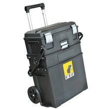 Portable plastic toolbox GD5070 rolling tool box storage tool case chest gude tools with wheels