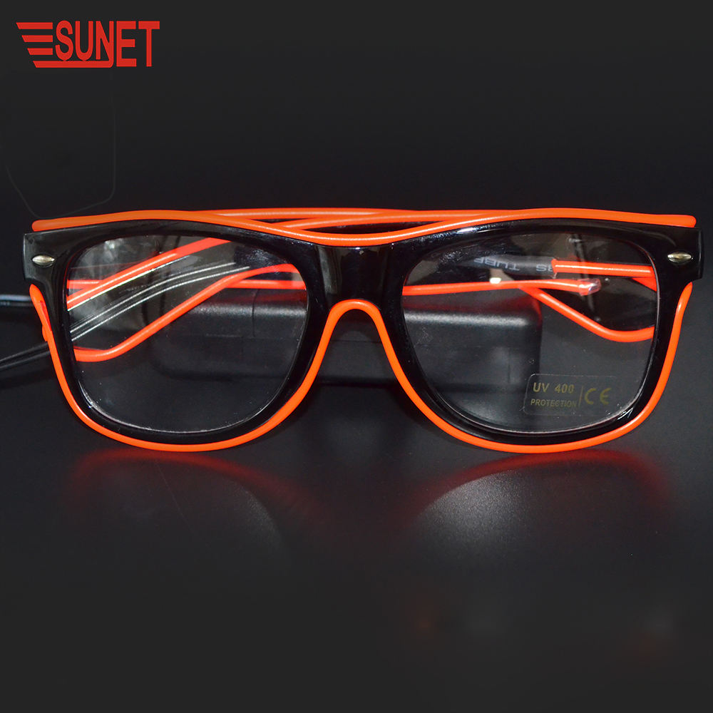 SUNJET 2020 Christmas Item Party Gift LED Glowing Light EL Wire Glasses