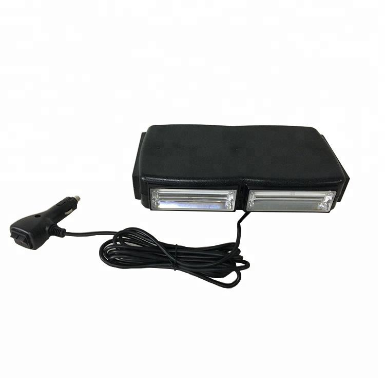 DC12 60W Strong Magnetic Blue LED Warning Flash Mini Light Bar with on/off plug for Mining Truck Trailer