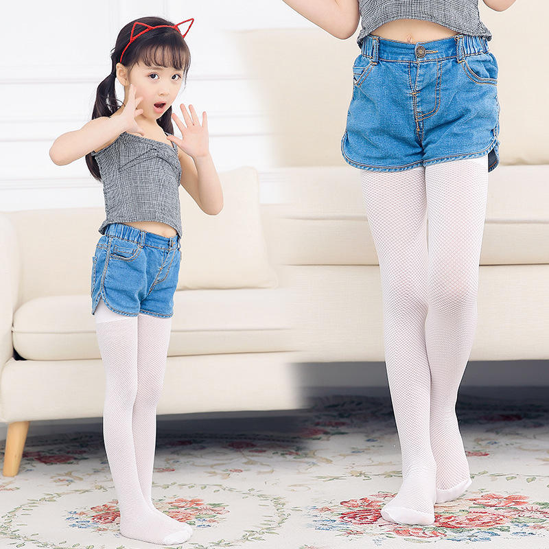Child Ballet Footed Tights Children'S Dance Socks Girls Elastic Breathable Mesh Stockings Ballet Dance Tube Pantyhose DN2324