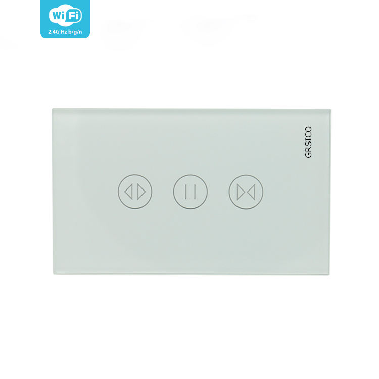 US Wireless WIFI Remote Control Touch Curtain Switch Panel for Tuya Smart Home Automation System