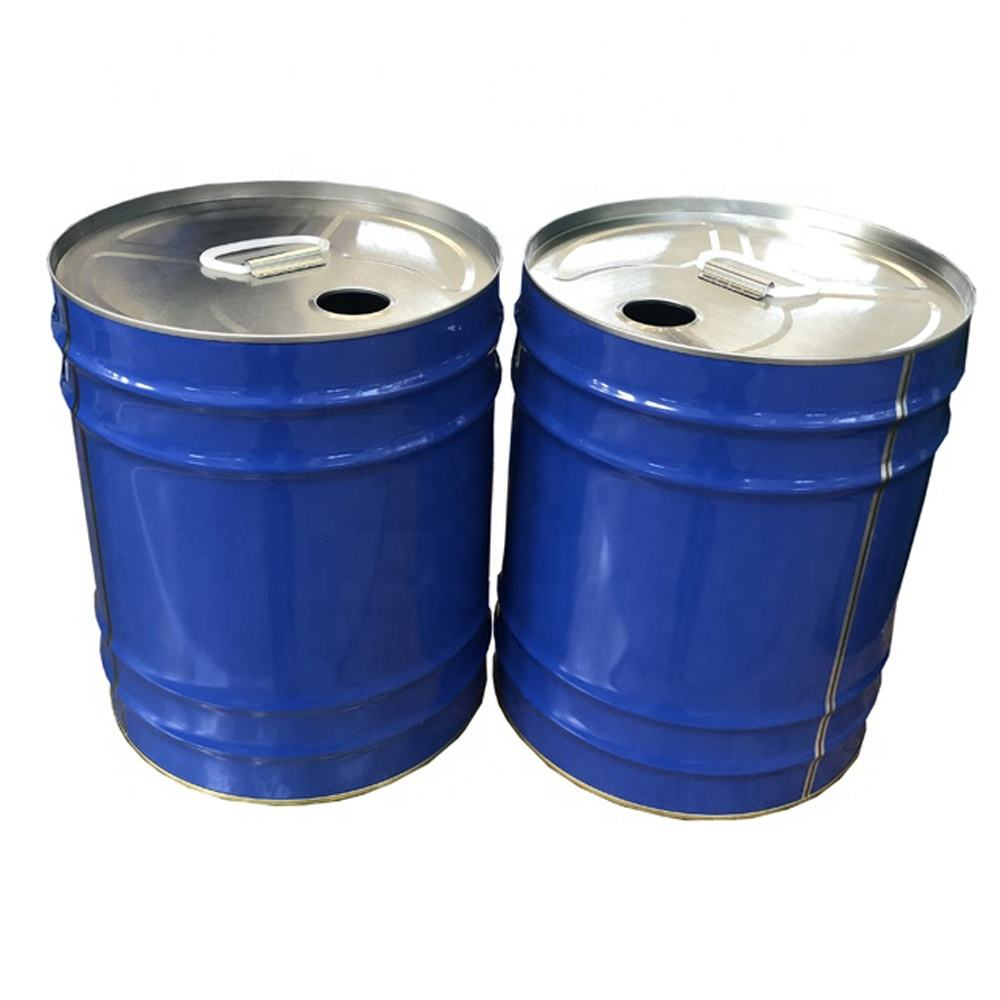 25 liters metal bucket pail with spout lid 25L tight head steel drum
