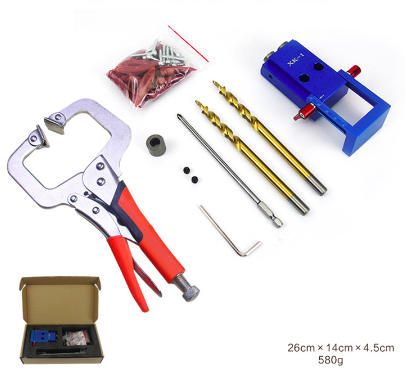 LISCA 03 hand tools DIY holes Pocket Hole Jig Kit with vise grips