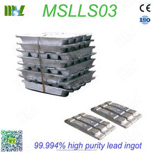 99.994% high purity lead ingot manufacturer / radiation protection ingot MSLLS03P