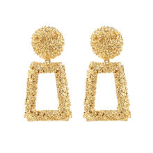 Big Vintage Earrings for women gold color Geometric statement earring N80845