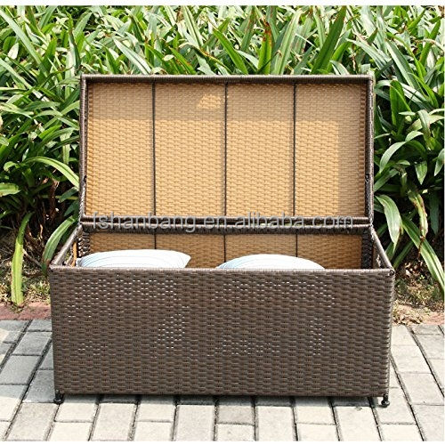 Waterpoof Outdoor Patio Garden Wicker Rattan Pillow Cushion Toy Deck Storage Pack Box
