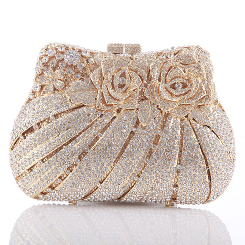 Handmade hollow out party crystal evening bag