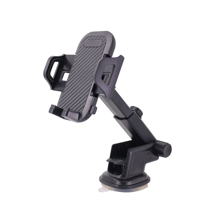 Dashboard Windshield Extendable Mobile Phone Car Mount Phone Holder, 360 Degree Swivel Head Car Cradle Clamp Cell Phone Stand