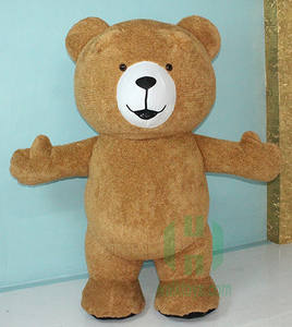 Giant Adult Size Inflatable Costume EN71 movie character teddy bear costume inflatable advertising costume for sale