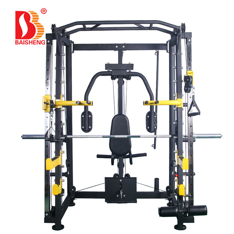 Multi Funtion Smith Machine Cable Crossover Squat Rack Gym Equipment