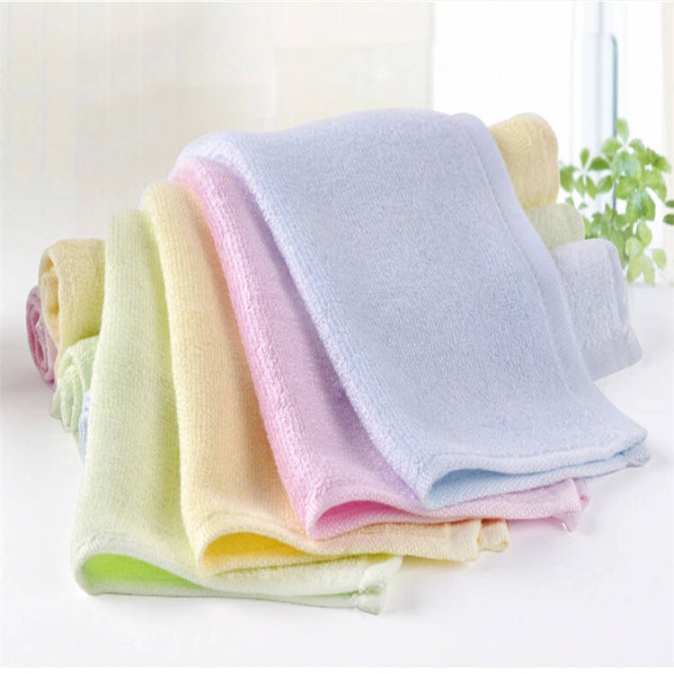 Super Soft Fabric Organic Bamboo Baby Wash Personalized Square Face Cloths