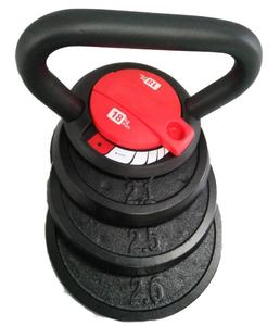 Kettlebells Adjustable Kettlebell Beban Set dengan Removable Piring Meliputi Latihan Video DVD 9Kg/20lb 20Kg/40lb