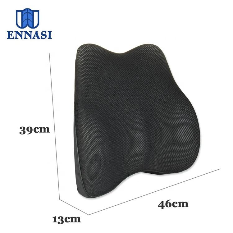 Newly Style Car Seat Office Chair Lumbar Pillow Memory Foam Full Back Pain Relieve Support Cushion with Adjustable Strap