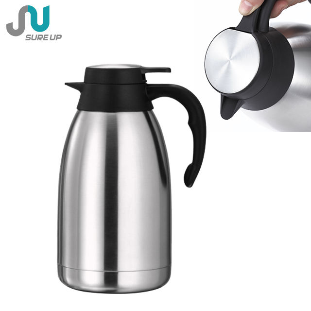 Narrow mouth double wall matte thermos coffee pot stainless steel vacuum jug for restaurant hotel