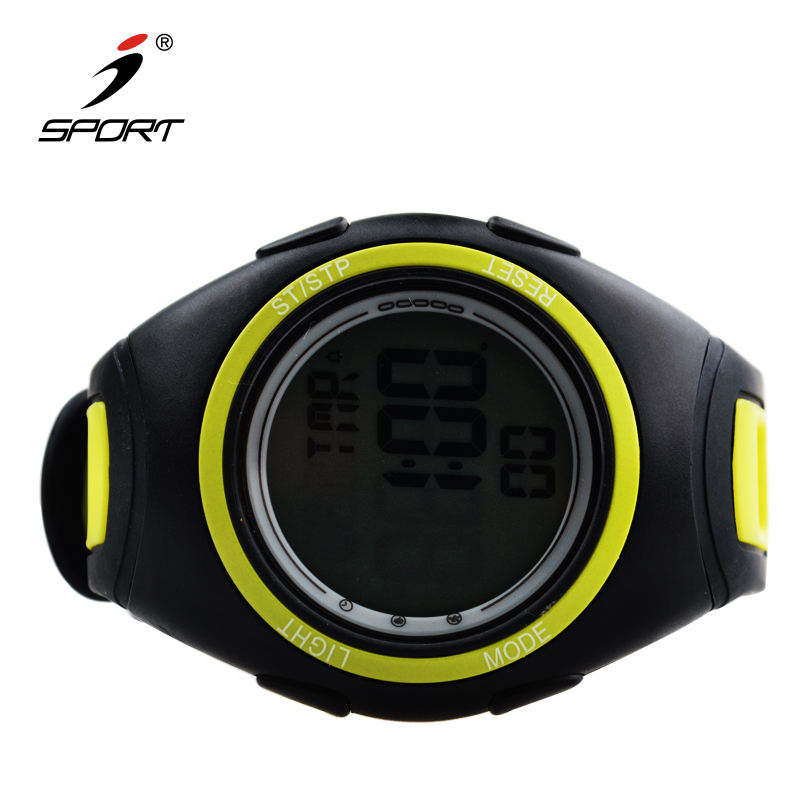 Waterproof Large LCD display 10 laps memory countdown timer wrist stopwatch